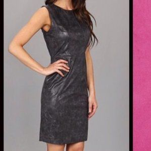 Vince Camuto Vegan Metallic Leather Cocktail Dress